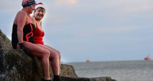 The Christmas Day swim is an obligatory activity for many families across the country. If you haven't tried it, we highly recommend it. Photograph: Alan Betson