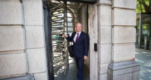 Peadar Tóibín TD   leaving the Dáil earlier this year. Tóibín hopes   there is a place for a nationalist, left-wing, anti-abortion party, and on Monday night 300 people in Navan seemed to agree. Photograph:   Tom Honan