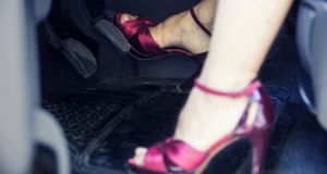 A €60,000 claim for damages by a man who had alleged he was injured in separate rear ending collisions casued as a result of his mother and sister wearing high heels while driving, has been dismissed. File image: iStock.