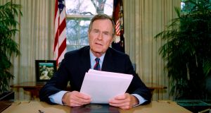 US president George Bush in 1992. Photograph: Luke Frazza/AFP/Getty Images