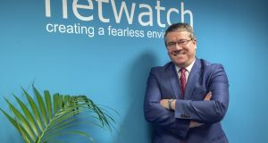 David Walsh, founder and CEO of Netwatch at its office in Carlow. Photograph: Brenda Fitzsimons