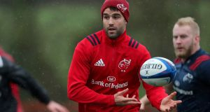 Munster's Conor Murray is set to start and partner Joey Carbery for the first time for their Champions Cup Pool 2 clash with Castres. Photo: Laszlo Geczo/Inpho
