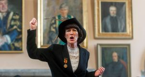COUNTESS BLESSINGS: Countess Markievicz (as played by Dr Jean van Sinderen-Law) at UCC during a celebration of women's suffrage. Photograph: Michael Mac Sweeney/Provision