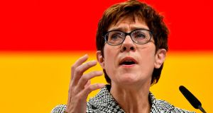 Nerves of steel: new CDU leader Annegret Kramp-Karrenbauer. Photograph: John MacDougall/AFP/Getty Images