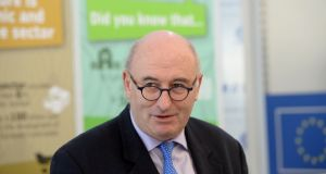 Ireland's EU commissioner Phil Hogan has said the risk of a disorderly Brexit means new investment in major energy and other infrastructural projects thought to be 'down the line' may have to be accelerated. File photograph: Alan Betson