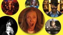 Firm favourites: Toni Collette in Hereditary (centre) and from left, Cold War, Climax, Lady Bird, Sorry to Bother You and Loveless