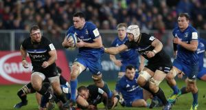 Leinster's James Ryan gets away from Bath's Dave Attwood in the   Champions Cup pool one match at The Recreation Ground, Bath. Photograph: David Davies/PA Wire