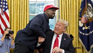 Kanye West and Donald Trump in the White House
