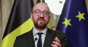 Belgian prime minister Charles Michel: met King Philippe on Sunday morning to seek a royal decree to allow him to reorganise his government. Photograph: Stephanie Lecocq