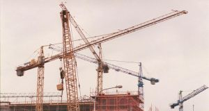 Activity among Irish construction firms has now increased for 57 successive months. Photograph: Alan Betson
