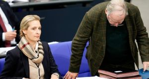 Alternative for Germany co-leaders Alice Weidel and Alexander Gauland. Photograph: Alexander Becher/EPA