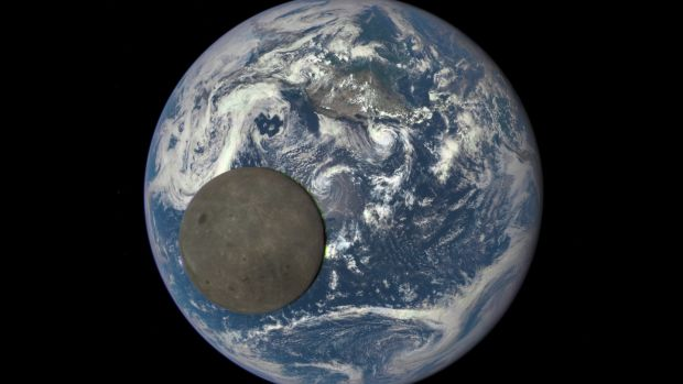 An animated still frame shows the moon illuminated by the sun, captured by Nasa's Deep Space Climate Observatory satellite. China is aiming to go where no one has gone before: the far side of the moon. Photograph: Nasa