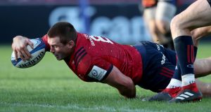 Munster's CJ Stander scores a try against Castres in his side's 30-5 win   at Thomond Park on Sunday. Photograph:   Dan Sheridan/Inpho