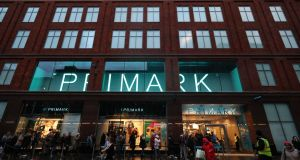 The new Primark store on Castle Street, Belfast, replaces the one burned down in August. Photograph: PA