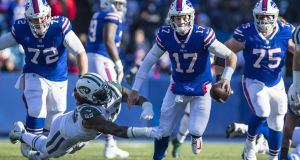 Josh Allen has shown serious potential for the Bills. Photograph: Brett Carlsen/Getty