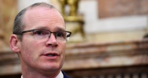 Simon Coveney says the backstop was 'fair and balanced, a 'middle ground measure' that is a fallback position as a last resort. Photograph: Clodagh Kilcoyne