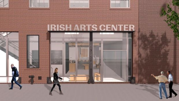 Architect's Rendering of the new Irish Arts Center in New York. Architects Davis Brody Bond with the OPW