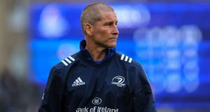 Stuart Lancaster has insisted he is 'very happy' with life at Leinster. Photograph: Ryan Byrne/Inpho