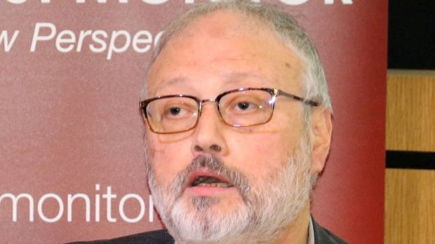 Saudi dissident Jamal Khashoggi speaking at an event hosted by Middle East Monitor in London, on September 29th last. Photograph: Middle East Monitor via Reuters