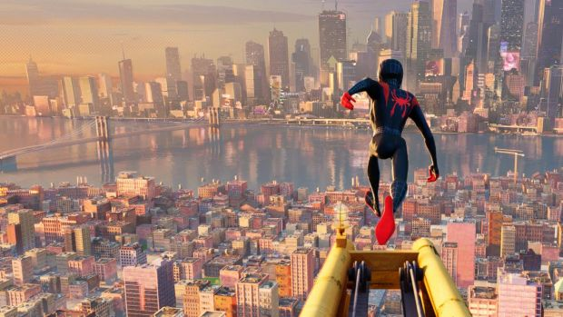 Miles Morales as Spider-Man in Spider-Man: Into the Spider-verse