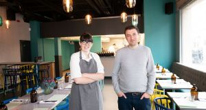 Head chef Holly Dalton and owner Colin Harmon in Gertrude, which opens on Pearse Street in Dublin 2 on Tuesday. Photographs:  Tom Honan