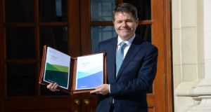 Minister for Finance Paschal Donohoe pictured at Government Buildings in advance of delivering Budget 2019. The ESRI has concluded that the budget will reduce incomes on average next year. Photograph: Dara Mac Dónaill / The Irish Times