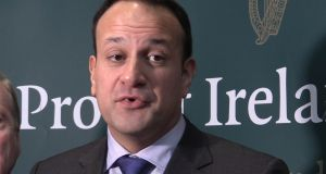 "Taoiseach Leo Varadkar in Dublin on Monday. A statement from Government Buildings said both he and European Council president Donald Tusk agreed the Brexit withdrawal agreement ""could not be renegotiated"". Photograph: PA Wire"