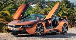 BMW i8: It counts as a supercar in the attention grabbing stakes, with those concept car lines, and those ultra-cool doors