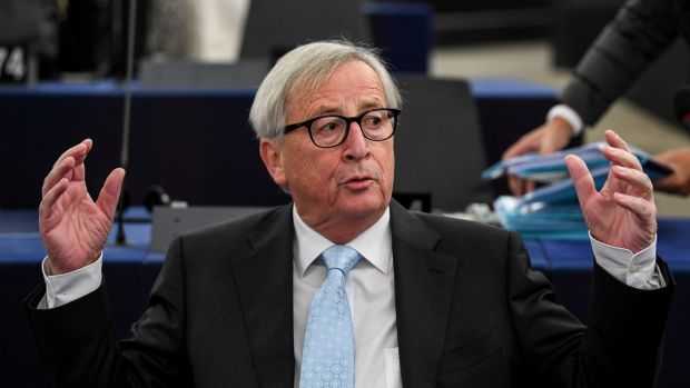 Jean-Claude Juncker said the withdrawal agreement on offer was the 'best deal possible'. Photograph: Patrick Seeger/EPA