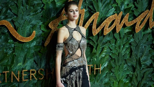 Model Kaia Jordan Gerber at the awards. Photograph: Niklas Halle'n/EPA