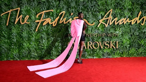 Alek Wek at the British Fashion Awards. Photograph: Ian West/PA Wire