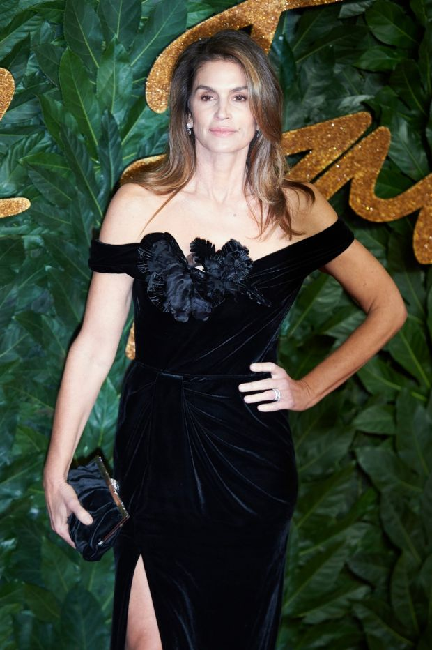 Model Cindy Crawford arrives at the British Fashion Awards 2018 in London on Monday. Photograph: Niklas Halle'n/EPA
