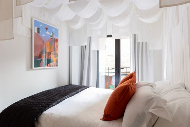 "Zed Rooms: one of the ""dream-promoting"" Loom rooms at the Shoreditch aparthotel"