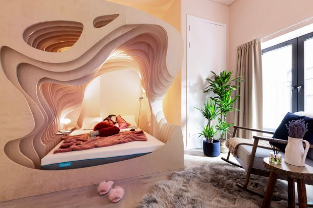 Woom service: one of the womb rooms at the Shoreditch aparthotel