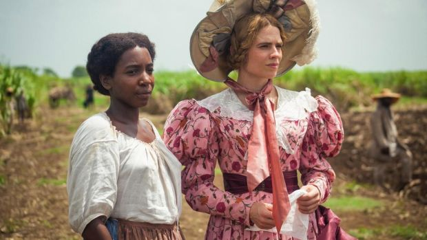 Tamara Lawrance and Hayley Atwell in The Long Song, BBC