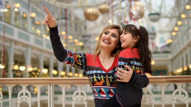 Serene Ibraheem and her mother Raneem. 'I was so excited to hear her speak in Irish.' Photograph: Dara Mac Dónaill/The Irish Times