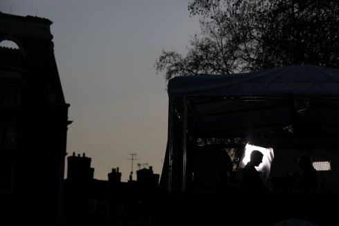 DARK DAYS: British Conservative MP Jacob Rees-Mogg, a supporter of Brexit, is interviewed by a TV channel crew in a temporary studio opposite the Houses of Parliament in London, as high-level diplomacy continues over the EU-exit imbroglio. Photograph: Simon Dawson/Reuters