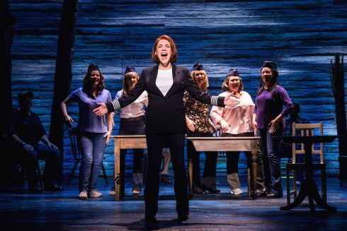 EUROPEAN PREMIERE: Belfast performer Rachel Tucker performs in the musical Come From Away, which is having its European premiere at the Abbey Theatre in Dublin. The show is based on actual events in the aftermath of the attacks of 9/11.