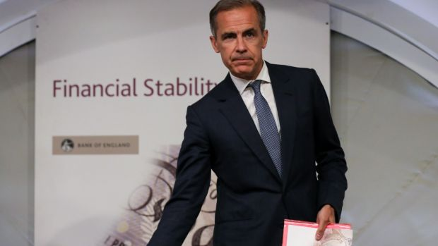 Mark Carney, governor of the Bank of England: bank forecast a no-deal Brexit could have worse consequences for the UK economy than the 2008 crisis.
