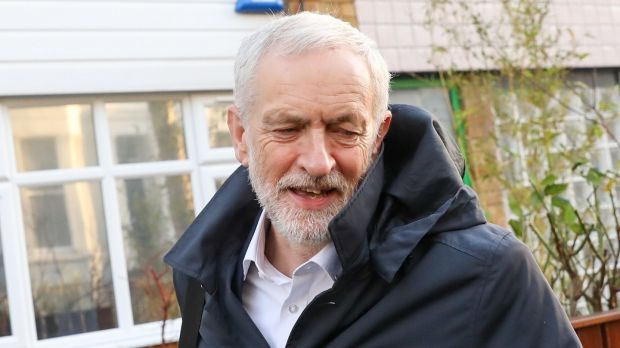 Labour Party leader Jeremy Corbyn said Theresa May no longer had the authority to negotiate for her country if she had lost authority in her own party. Photograph: Chris Ratcliffe/Bloomberg