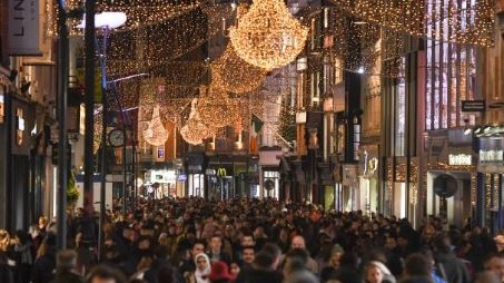 Dublin's Grafton Street in recent weeks after the Christmas shopping season had gotten into full swing. File photograph: Getty Images