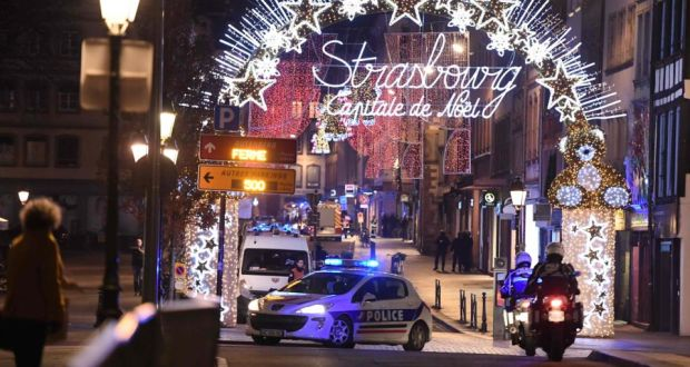 Strasbourg France Christmas Time.Four Dead Gunman Identified After Shooting At Strasbourg