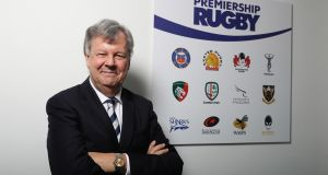 Premiership Rugby chairman Ian Ritchie is confident that a new £230 million deal with private equity firm CVC Capital Partners can be finalised before Christmas. Photograph:  David Rogers/Getty Images