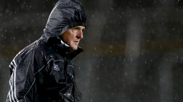 New Dublin manager Mattie Kenny on the sideline during the Walsh Cup game against Carlow at Netwatch Cullen Park. Photograph: James Crombie/Inpho