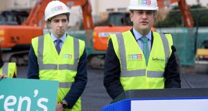 Taoiseach Leo Varadkar (right) and Minister for Health Simon Harris (left) said abortion services would be available on January 1st 2019, but key hospitals say the timetable is too tight. Photograph: Dara Mac Dónaill