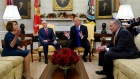 Trump and House leaders squabble in unruly Oval Office meeting