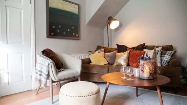 Bronzes and neutral tones in Helen Coughlan's front room. Photograph: Clare Keogh