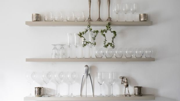 Helen Coughlan goes for neutral hues in her dining room this Christmas. Photograph: Clare Keogh