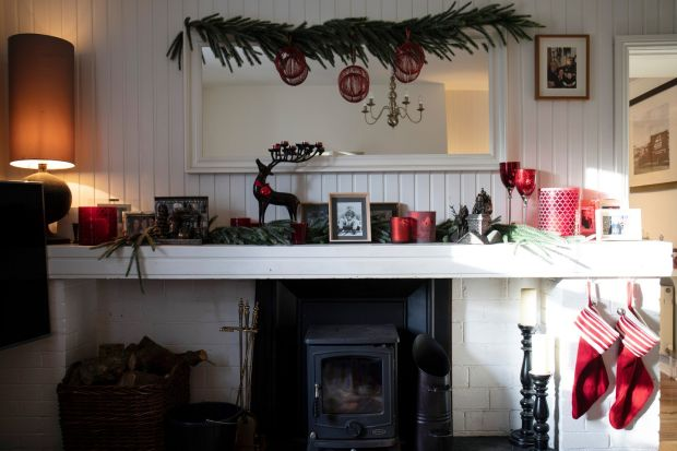 Helen Coughlan's sitting room in her cottage in Glanmire, Co Cork. Photograph: Clare Keogh