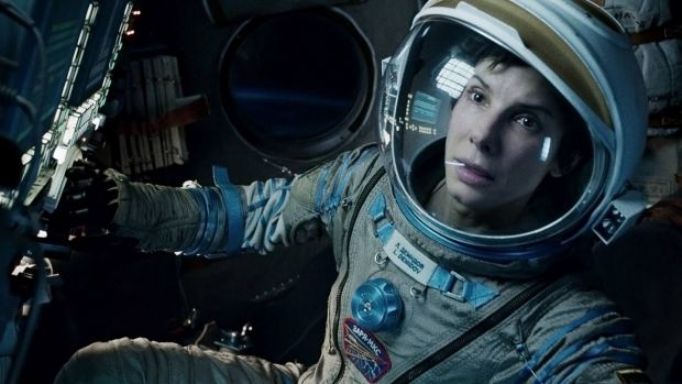 Sandra Bullock in Gravity, directed by Alfonso Cuaron